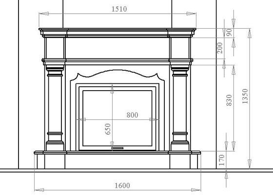 El Tamaño De La Chimenea De Paneles De Yeso Chimenea Decorativa Hágalo Usted Mismo Los Matices De Montaje Y Decoración