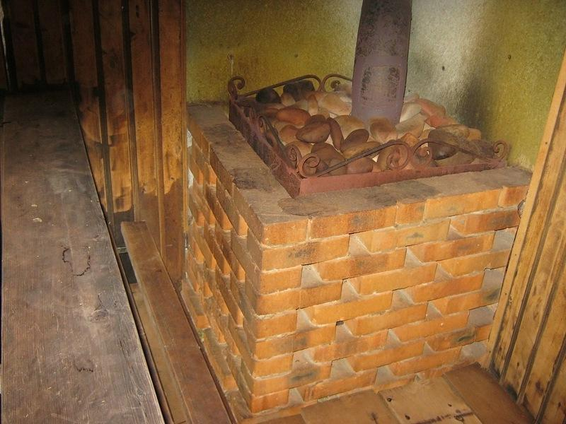 обложить железную печь камнями